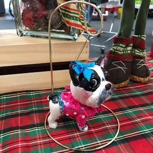 Other - Boston Terrier Puppy Dog Holiday Ornament & Hanger